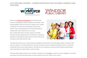 WPL and Workforce WindsorEssex Launch, 'Let's Explore Careers!'