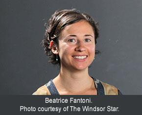 Beatrice Fantoni. Photo courtesy of The Windsor Star.