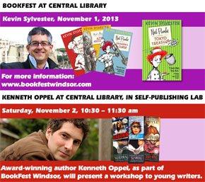 Kevin Sylvester and Kenneth Oppel at WPL