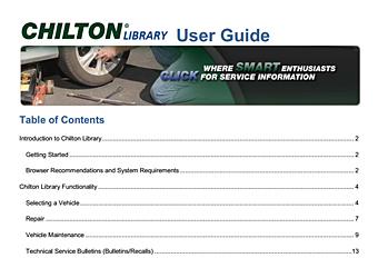 chilton guide