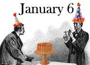 Watson and Holmes celebrating Holmes January 6 birthday