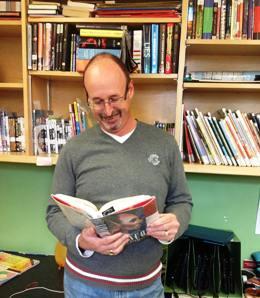 Dave reading smaller