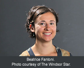 Beatrice Fantoni. Photo courtesy of The Windsor Star.
