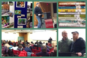 Collage from Community gardening documentary evening