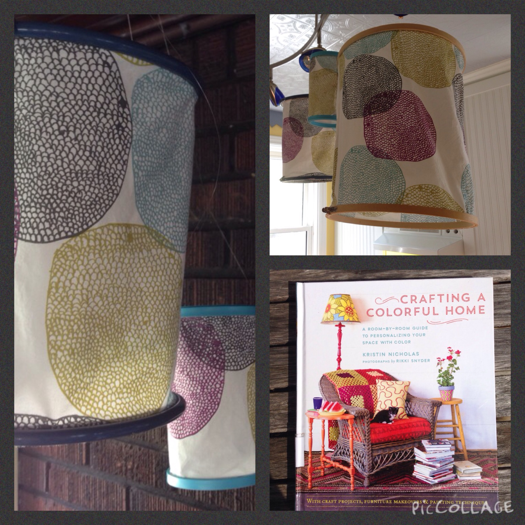 fabric hoop lanterns