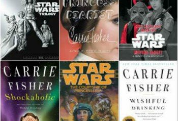 Book Covers Featuring Carrie Fisher